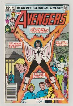 Avengers Vol 1 227 Bronze Age Comic Book.  by RubbersuitStudios #avengers #comicbooks #captainmarvel