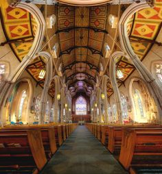 Michael's Cathedral by Roland Shainidze (Oldest church in the city of Toronto, Canada) Ontario, Grands Lacs, Roman Catholic, Catholic Churches, Cathedral Church, Amazing Architecture, Sacred Architecture, Church Architecture, Amazing Buildings