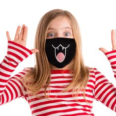 20 Pieces Cute Cartoon Mouth Mask Funny Teeth Pattern Mask Anti-dust Muffle Mask for Teens Men Women Cartoon Mouths, Cute Cartoon, Teen Guy, Amazon Image, Respirator Mask, Different Seasons, Extra Fabric, Mouth Mask, Flu