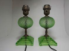 Fenton Hobnail lamps...ebay