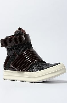 The Bones Sneaker in Black and Brown by Jeffrey Campbell
