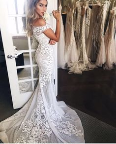 Pallas Couture lace wedding dress