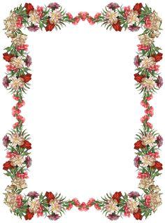 FREE Digital Vintage Rose Frame And Border Png With Transparent Background