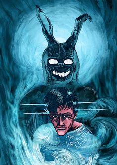 Donnie Darko. Digital mixed media by Damian K. Sheiles.