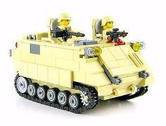Custom LEGO Army M113 APC tank Military minifigure complete SET