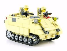 Custom LEGO Army M113 APC tank Military minifigure complete SET