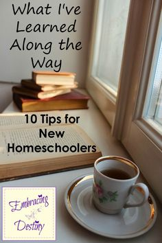 10 Tips for New Homeschoolers... Advice for New Homeschoolers ~ 10 things I've learned from our homeschool experience.