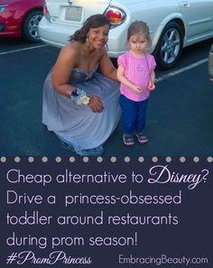 How to meet a Princess without going to #Disney! #PromPrincess Genius!