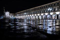 ...notte e pioggia in piazza San carlo