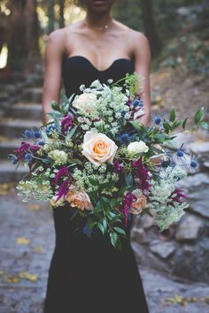 OMG! We're loving this super dark and moody styled shoot in the woods!