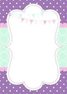 This Pin was discovered by ~❁A Borders For Paper, Borders And Frames, Diy And Crafts, Paper Crafts, Invitation Background, Frame Background, Binder Covers, Unicorn Party, Invitation Design