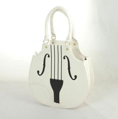 Violin Bag. It also comes in black, brown and even pink! #music #fashion #style #piano #musicfashion http://www.pinterest.com/TheHitman14/hey-ladies-musical-fashion/