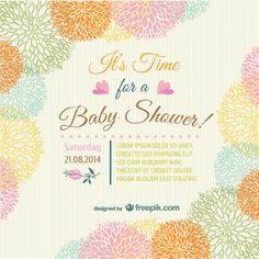 Baby shower floral invitation card http://www.freepik.com/index.php?goto=74&idfoto=722477