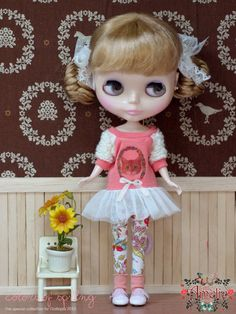 The Cat Dress set for Blythe by poppyw on Etsy, $32.00