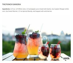 The punch sangria
