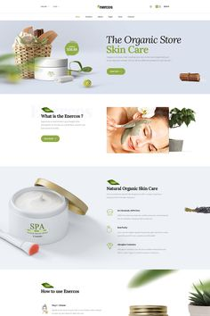 Enercos - Single Product eCommerce PSD Template The Effective Picture Web Layout, Layout Design, Website Layout, Cosmetic Web, Design Creation, Web Design, Website Design Inspiration, Natural Cosmetics, Flower Delivery