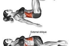 Lying bent-knee oblique twist exercise