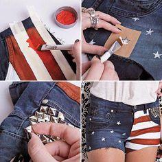 Tienes jean viejos? Cortalos a tu medida y decoralos!