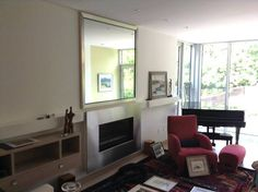We also frame MIRRORS! Here's one taken at a client's home. #dimensionscustomframingtoronto