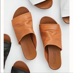 Shore Thing Slide Sandal - Leather Slide On Sandals - White Leather Sandals - White Slide On Sandals - Tan Slide On Sandals - Tan Leather Sandals - Casual Sandals - Free People Sandals Pretty Shoes, Cute Shoes, Me Too Shoes, Fringe Sandals, Leather Sandals, White Leather, Soft Leather, Sandals Outfit, Shoes Sandals