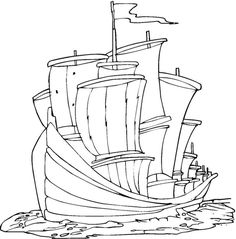48 Best Free Sharp Ships Boats Coloring Pages! images in