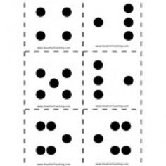 Here's a set of dot pattern cards for the numbers 1-9