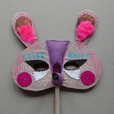 Beautiful embellished mask for #kids -- we can see you having some fun here with your #sewing machine's decorative stitches or breaking our your #embroidery floss!