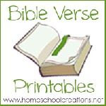 FREE Bible verse printables for children to use while learning verses.