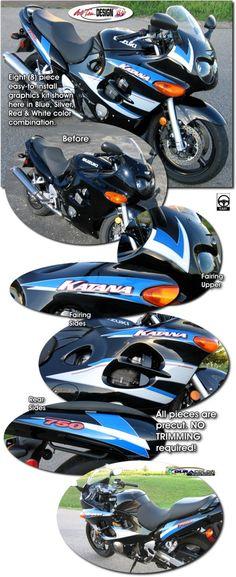 Motorcycle specific graphic kits for Suzuki Katana GSX600F   GSX750F from  Auto Trim DESIGN dress up 934852f15e