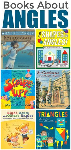 Books about Angles for Children (STEM Unit Study) Math Books, Children's Books, Good Books, Montessori Math, Homeschool Math, Math Activities For Kids, Fun Math, Teaching Kids, Kids Learning