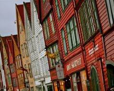 Bryggen, Norway. Want want want want want!