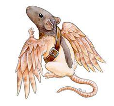 Messenger Rat by ursulav.deviantart.com on @deviantART....Icaris has nothing on this rattie !