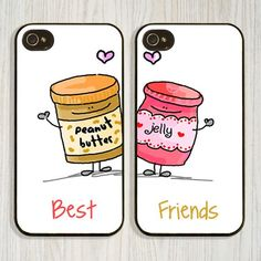 Best Friend Gift Ideas For Teens | Peanut Butter And Jelly Best Friend Cell Phone Cases - Come check out our luxury phone cases. Different styles for every type of personality!