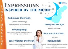' Expressions inspired by the moon ' SUNDAY MAGAZINE