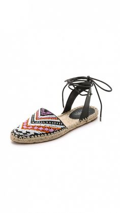 Belle by Sigerson Morrison Maie Beaded D'Orsay Espadrilles