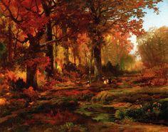 Cresheim Glen, Wissahickon, Autumn - Thomas Moran - WikiArt.org