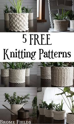 5 FREE Knitting Patterns