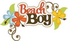 Beach Boy SVG scrapbook title beach svg files beach svg cuts beach boy cut files for scrapooking
