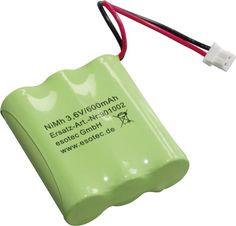 Akkupack 3 Mignon (AA) Stecker NiMH Esotec Solarleuchten-Pack 3.6 V600mAh 901002