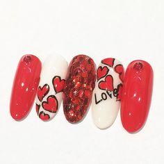 2016年バレンタインネイルは「赤」でキメる!本命の彼の心を狙い撃ちできる赤を使ったネイルデザイン -page4 | Jocee