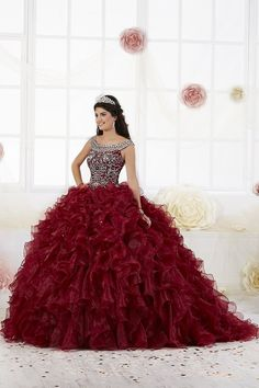 The Quinceanera Collection offers elegant quinceanera dresses, 15 dresses, and vestidos de quinceanera! These pretty quince dresses are perfect for your party! Quinceanera Dresses Maroon, Mexican Quinceanera Dresses, Quinceanera Planning, Mexican Dresses, Quinceanera Party, Quinceanera Shoes, Quinceanera Decorations, Quince Dresses, 15 Dresses