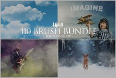 SALE! 110 Brush Bundle for Photoshop by Uplift Actions on @Graphicsauthor