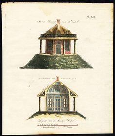 Antique Print-Plate 53-THATCH-HILL-LANDSCAPE GARDENING-Allart-van Laar-1802