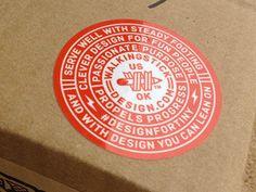 W logo sticker