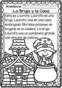 Easy Reading for Reading Comprehension in Spanish - October Set Spanish Teaching Resources, Spanish Activities, Spanish Lessons, Spanish Worksheets, Spanish Games, Spanish Teacher, Spanish Classroom, Reading Comprehension Worksheets, Elementary Spanish
