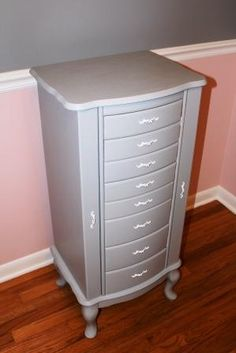 Jewelry armoire makeover i have an identical armoire i should do diy painted jewerly chest so soft and feminine i have this exact jewerly jewelry armoirejewelry solutioingenieria