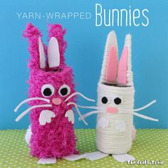 Yarn Easter Bunny Craft