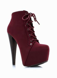 Bottines/Booties Bordeaux/Burgundy Talons-hauts/High-heels TexteOriginal/OriginalText: Trendy And Beautiful Booties High Heels Boots, Pumps Heels, Heeled Boots, Stiletto Heels, Bootie Boots, Shoe Boots, High Shoes, Ankle Booties, Fancy Shoes