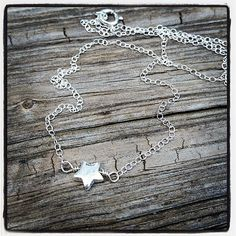 Sterling Silver Tiny Star Necklace  Modern Jewelry by cocowagner, $19.90
