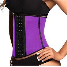 3f790a347e Latex Waist Trainer Corset Steel Bone Workout Waist Cincher Women Slim Body  Shaper